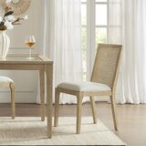 Canteberry Synthetic Cane Back Side Chair in Light Brown (Set of 2) by Madison Park