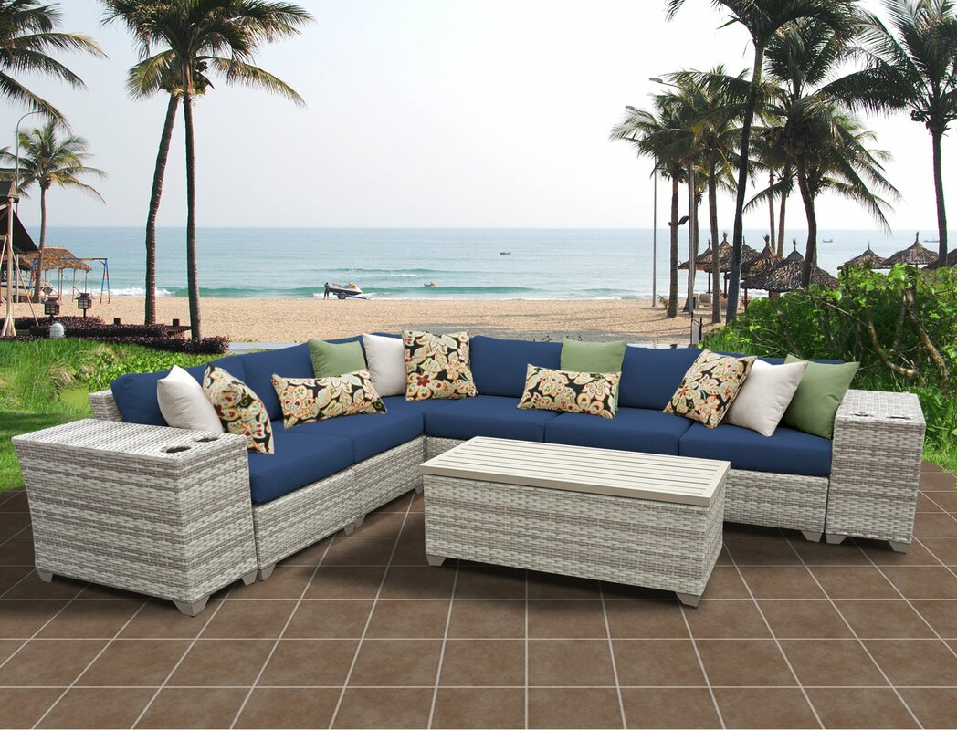 Ansonia 9 Piece Sectional Set with Cushions