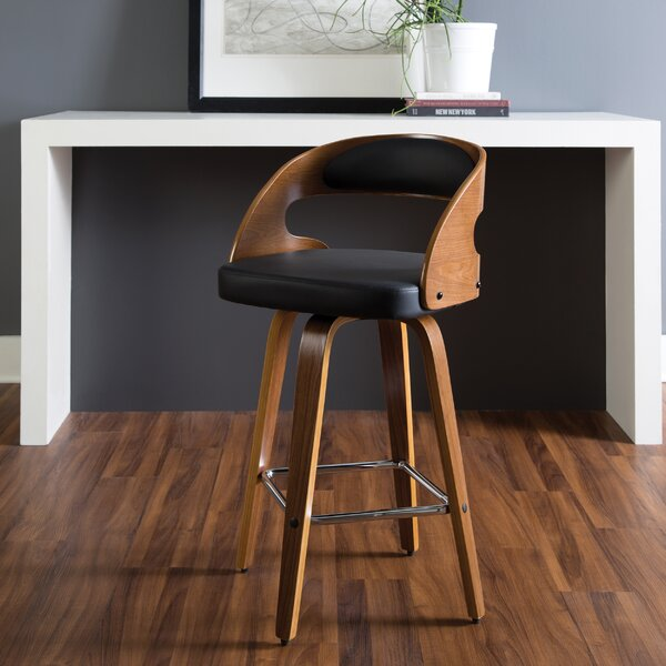 Admirable Contemporary Bar Stools Walnut Bentwood Adjustable Height Pabps2019 Chair Design Images Pabps2019Com