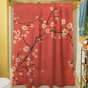 Reviews Golden Cherry Blossom Shower Curtain By Manual Woodworkers & Weavers