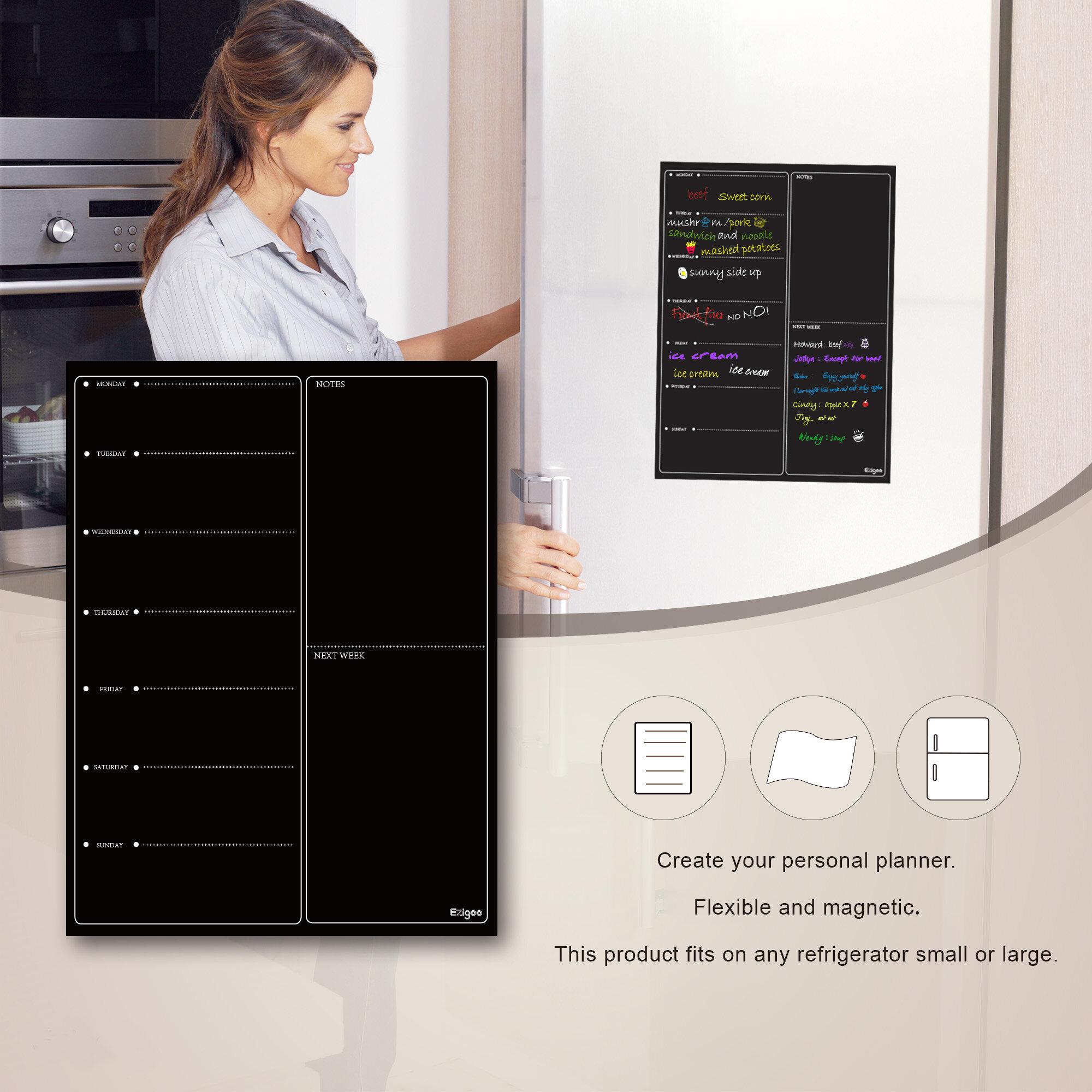 Symple Stuff Magnetic Meal Planner Kitchen Wall Mounted Chalkboard Wayfair Co Uk
