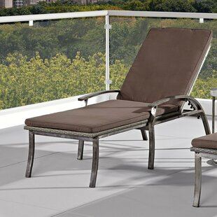 Penney Chaise Lounge with Cushions by Williston Forge