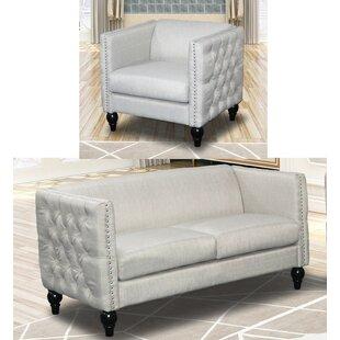 House of Hampton Annuziata 2 Piece Living Room Set
