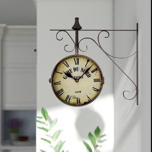 "9.4"" Round Double-Sided Hanging Wall Clock"