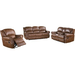 Darby Home Co Baynes Reclining 3 Piece Living Room Set