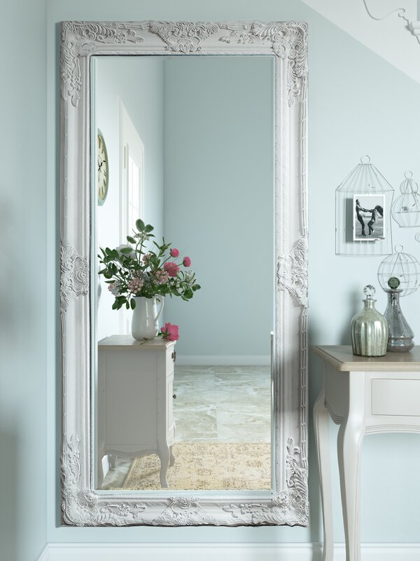 white full length mirror. triste full length mirror white m