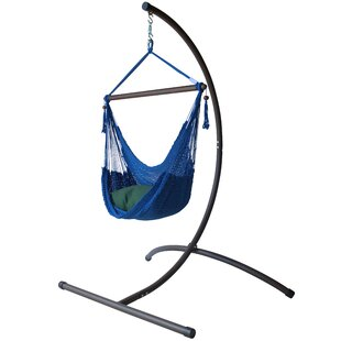 Caribbean Polyester Chair Hammock with Stand