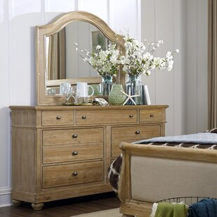 August Grove Shamong 9 Drawer Dresser with M..