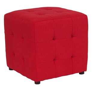 Rayl Tufted Upholstered Cube Ottoman ByCharlton Home
