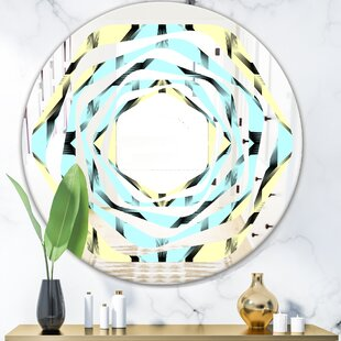 Fashion Ornament Whirl Modern  Contemporary Frameless Wall Mirror by East Urban Home