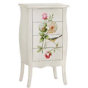 Sanger Hand-Painted 4 Drawer Accent Chest by August Grove