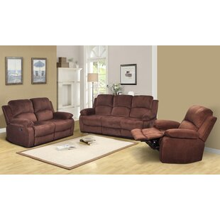 Faucette Reclining 3 Piece Living Room Set Winston Porter