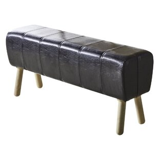 Azaria Faux Leather Bench