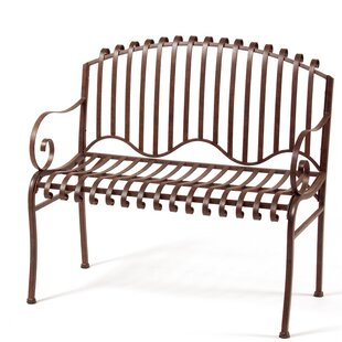 Solera Steel Garden Bench by Deer Park Ironworks