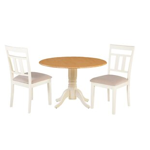 Adriano 3 Piece Drop Leaf Solid Wood Dining Set