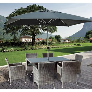 Blanch 6 Seater Dining Set With Cushions And Parasol Image