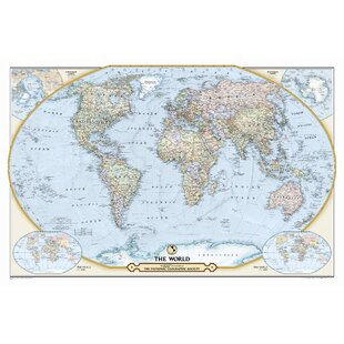 World map magnetic wayfair ngs 125th anniversary world map gumiabroncs Gallery