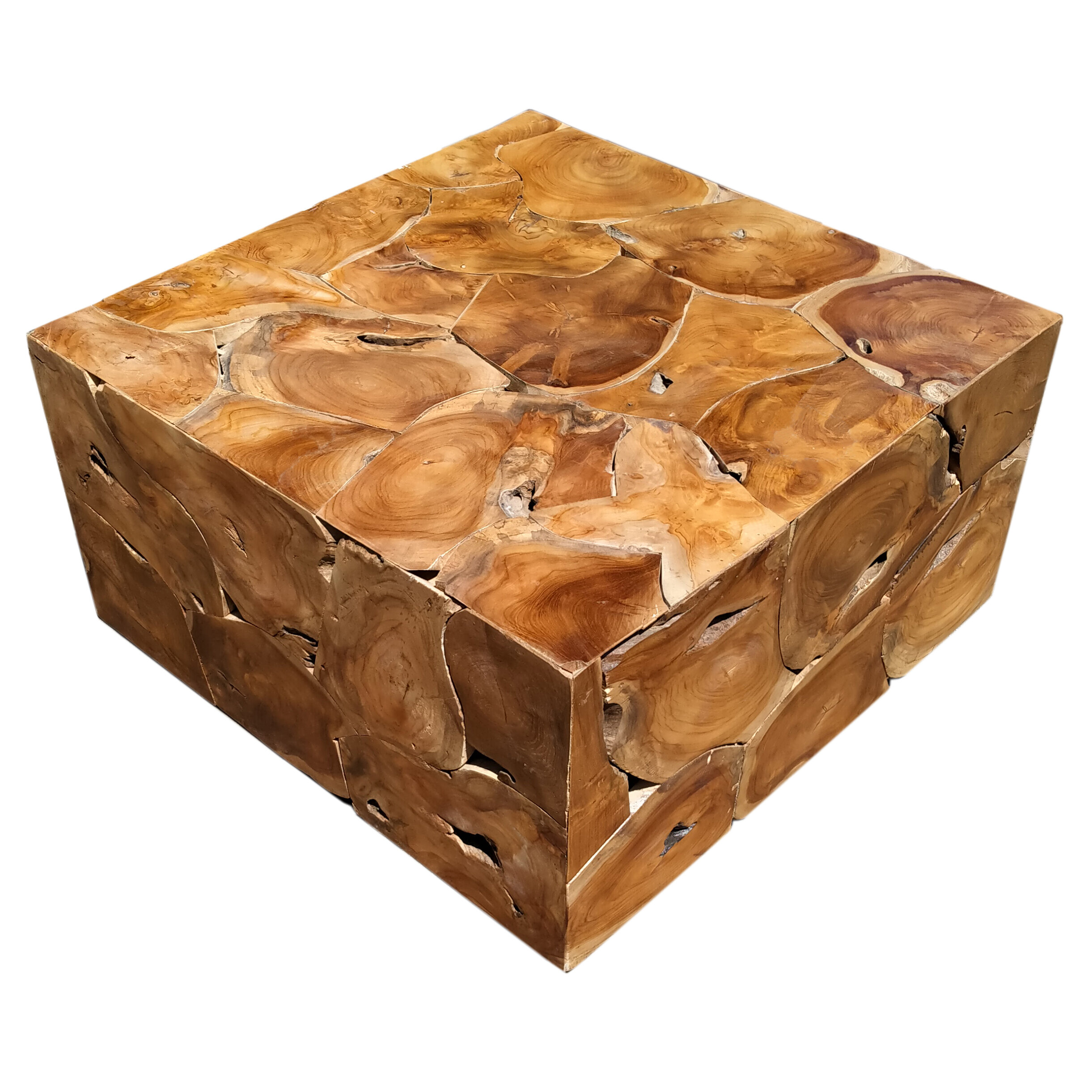 Millwood Pines Artlone Solid Wood Block Coffee Table Wayfair