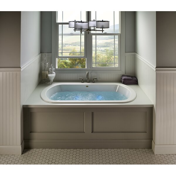 Jacuzzi Duetta 72 X 42 Drop In Undermount Whirlpool Bathtub Wayfair
