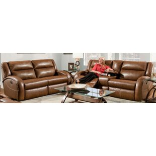 Maverick 2 Piece Leather Reclining Living Room Set