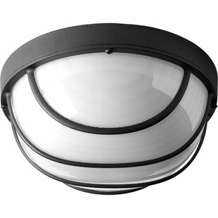 Krystn 1-Light LED Flush Mount By Latitude Run Outdoor Lighting