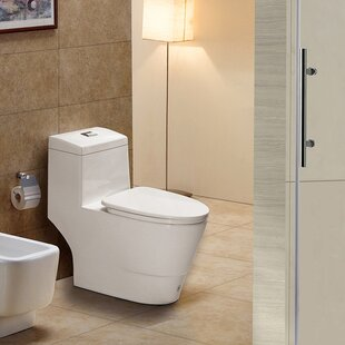 WoodBridge Dual-Flush Elongated One-Piece To..