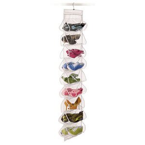 Big Save Clear Vinyl Storage 18-Pocket Hanging Shoe Organizer By Richards Homewares