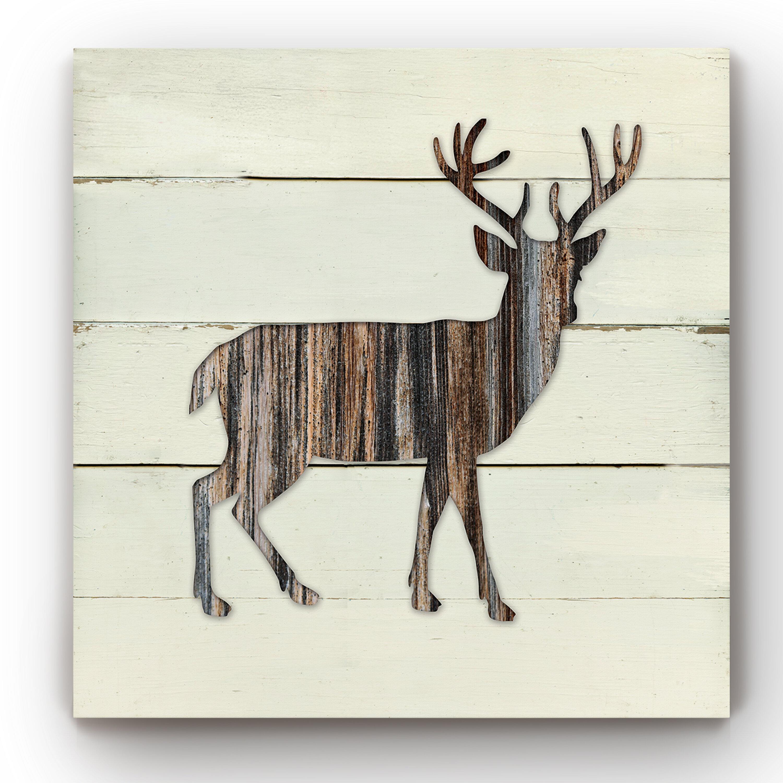 Loon Peak Woodland Deer Graphic Art Print On Canvas Reviews Wayfair