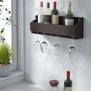 Gonzalez 6 Bottle Wall Mounted Wine Rack