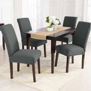 Jersey Knit Solid Dining Chair Slipcover (Set of 4)