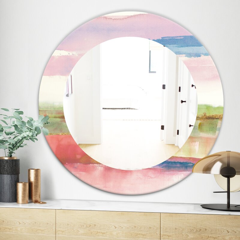 East Urban Home Influence Of Line And Color Bright Wall Mirror Wayfair