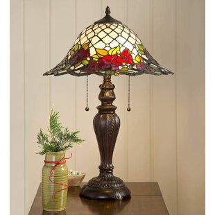 Compare prices Chesterfield Tiffany Stained 23 Table Lamp By Plow & Hearth