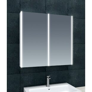 Chou 70 X 70cm Surface Mounted Mirror Cabinet With LED Lightning By Belfry Bathroom
