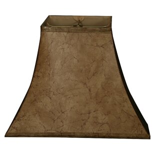 12 Faux Leather Bell Lamp Shade
