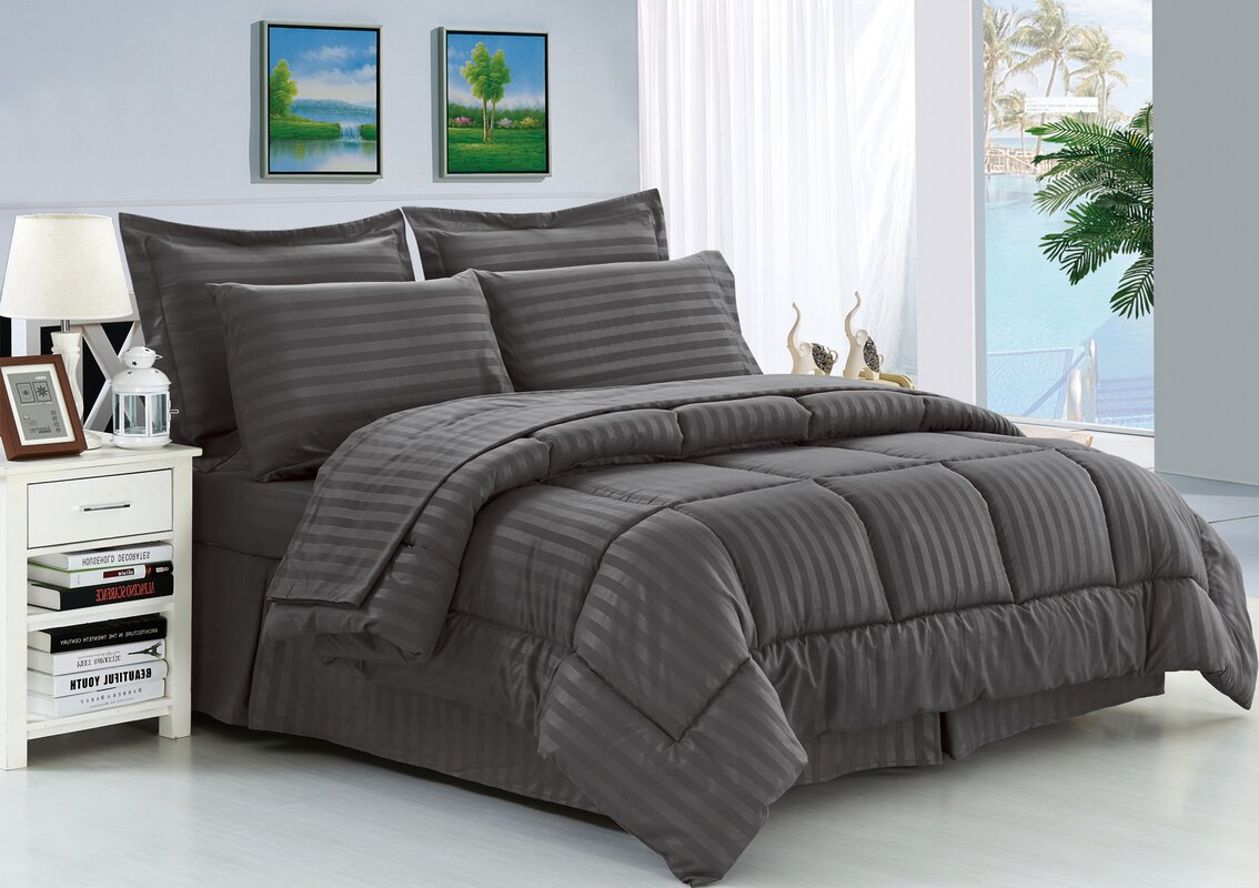 haliburton  piece reversible comforter set. andover mills haliburton  piece reversible comforter set