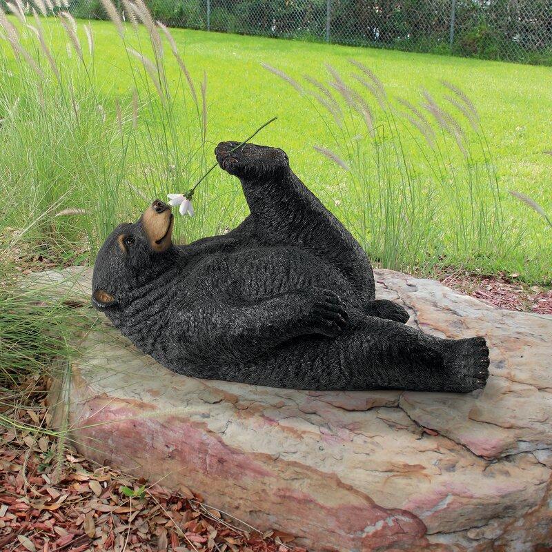 Smell The Flowers Garden Bear Statue
