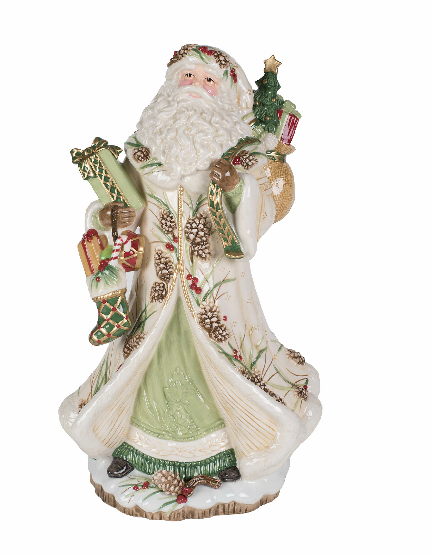 Fitz And Floyd Forest Frost Santa Figurine Reviews Wayfair