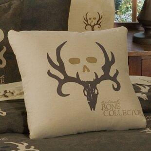 Logo Cotton Blend Throw Pillow
