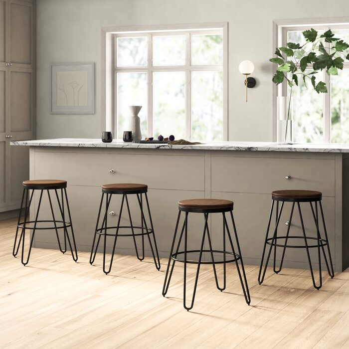 Fantastic Laguardia Backless Modern Wood And Metal 24 Bar Stool Pdpeps Interior Chair Design Pdpepsorg
