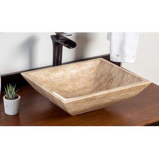 Inexpensive Sivas Stone Rectangular Vessel Bathroom Sink ByLaguna Marble