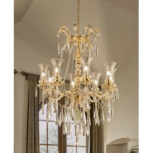 House of Hampton Waseca 8-Light LED Crystal Chandelier