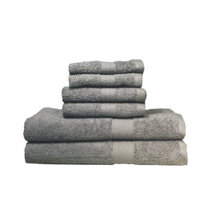 Alvardo Ultra Soft Absorbent 6 Piece 100% Cotton Towel Set