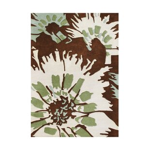 Best Reviews Menendez Hand-Tufted Brown/Antique White Area Rug ByThe Conestoga Trading Co.