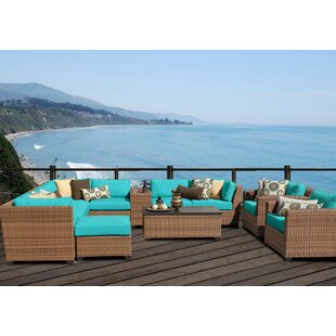 East Village 12 Piece Sectional Seating Group with Cushions By Rosecliff Heights
