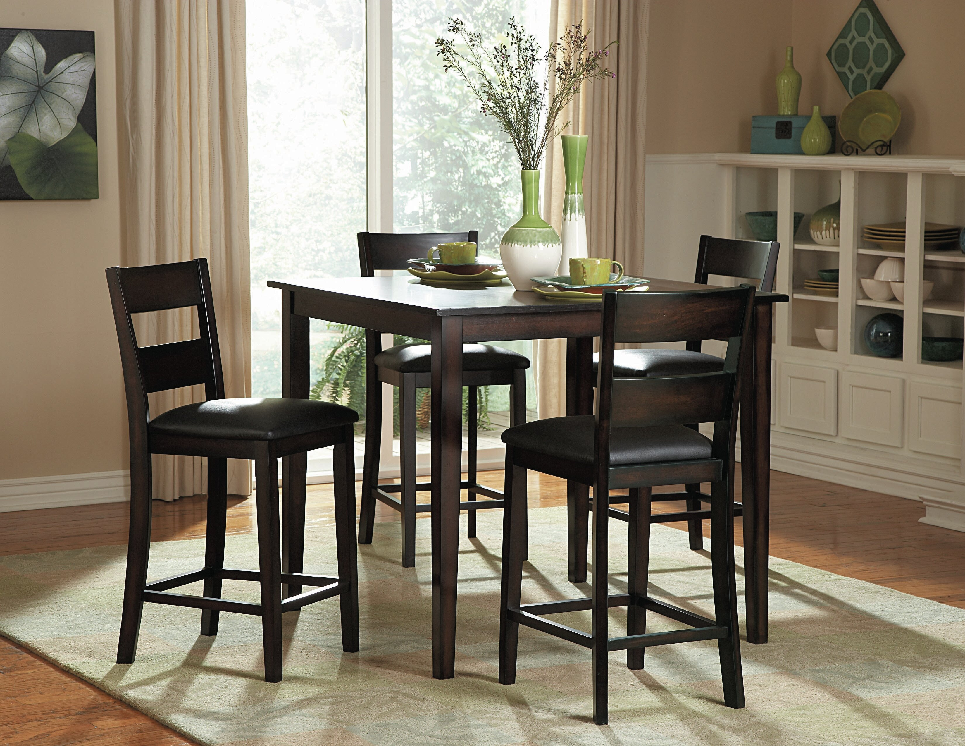 z shop thomaston black product brushed dining counter chairs chair for height set