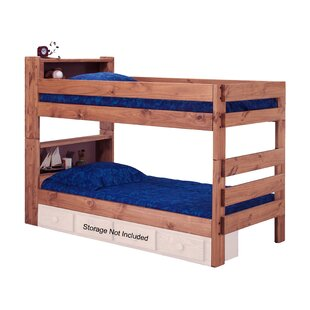 Chou Bookcase Twin Over Twin Bunk Bed