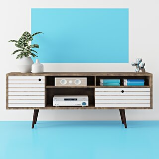 Allegra TV Stand for TVs up to 78 inches by Hashtag Home SKU:EC100409 Reviews