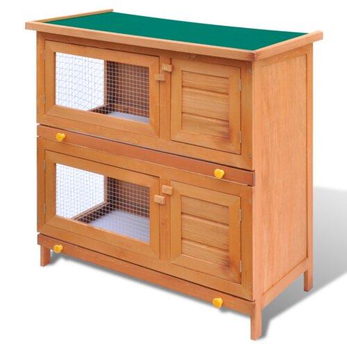 Kaninchenstall mit 4 Türen Archie & Oscar | Garten > Tiermöbel > Hasenställe-Kaninchenställe | Archie & Oscar