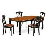 Pimentel Rubberwood Solid Wood Dining Set by August Grove®