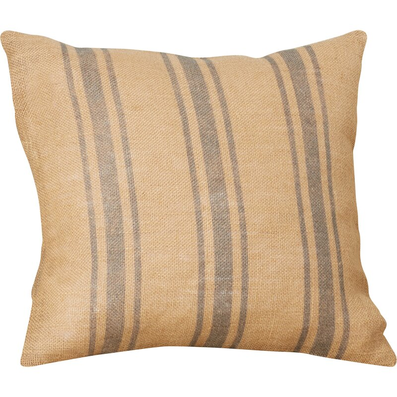 Grandin Burlap Throw Pillow
